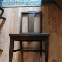 Old wooden chair with cane seat