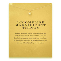 Accomplish magnificent things starburst Pendant necklace gold plated Clavicle Chains Statement Necklace Women Jewelry(Has  card)