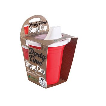 Party Time Sippy Cup in Red and White