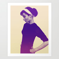 Audrey Hepburn Vintage Art Print by Crazy Thoom
