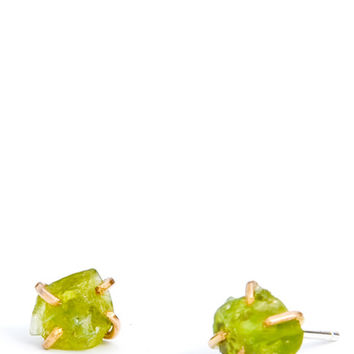 Peridot Claw Stud Earrings