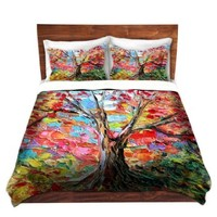 Duvet Cover Brushed Twill Twin, Queen, King SETs from DiaNoche Designs by Aja-Ann Soura Unique Home Decor and Designer Bedding Ideas Story of the Tree 59