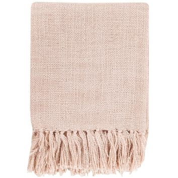 Belize Fringe Pale Pink Throw
