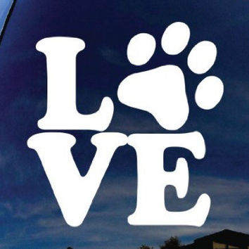 Dog Love outdoor car decal!