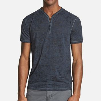 Men's John Varvatos Star USA Trim Fit Short Sleeve Henley