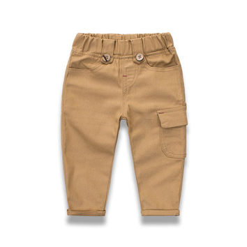 Boys Baby Patchwork Cotton Casual Trousers