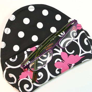 Reading Eyeglass Case with Magnetic Closure Ribbons of Hope Butterfly