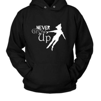 ESBP7V Peter Pan Never Grow Up Hoodie Two Sided