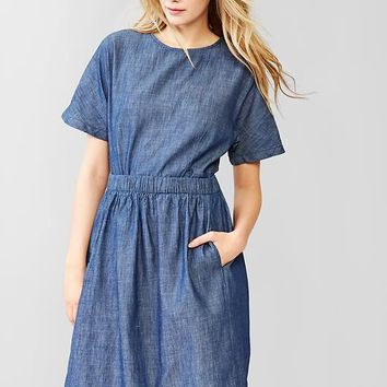 Gap Women 1969 Tulip Back Denim Dress