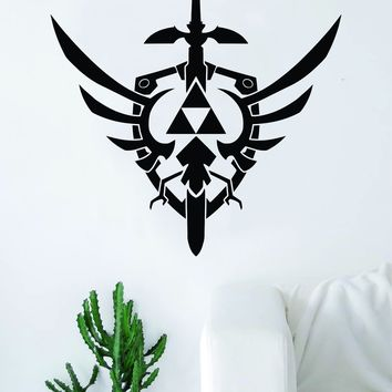 Triforce Zelda Master Sword Logo Gamer Video Game Decal Sticker Wall Vinyl Decor Art Home Bedroom Retro Classic Nerd Teen
