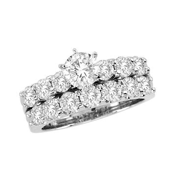 2-1/2 CT. T.W. Diamond Bridal Engagement Ring Set in 14K White Gold