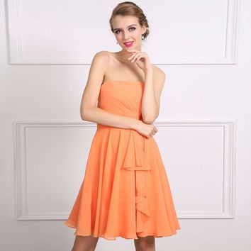 High School University Short Cocktail Party Prom Dress Chiffon Short dresses