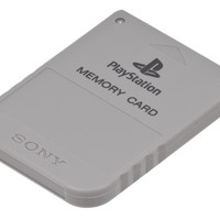 Gray Sony PlayStation 1 Memory Card SCPH-1020