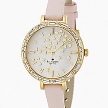 Kate Spade New York - Novelty Metro Pavé Goldtone Stainless Steel & Mother-of-Pearl Fluttering Hearts Watch - Saks Fifth Avenue Mobile