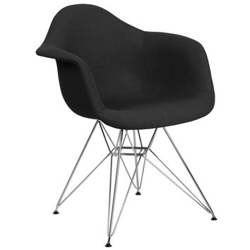 Alonza Series Fabric Chair with Chrome Base - Milan Patchwork