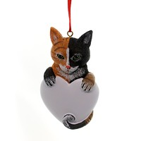 Holiday Ornaments Calico Cat. Resin Ornament