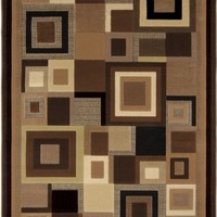 Home Dynamix Catalina 4467-469 Brown Polypropylene 3-Feet 3-Inch by 5-Feet 2-Inch Area Rug