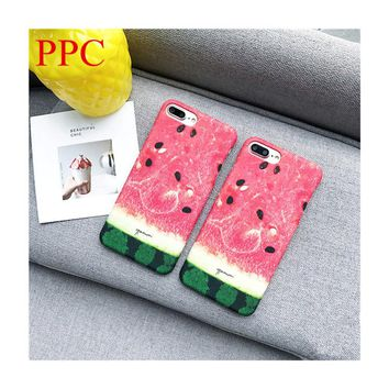 ice watermelon phone Cases For iphone 6 6s 6plus 7 7Plus 8 8plus cool summer hard PC case back cover for iphone 6 case