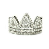 2 Carat Diamond 14k White Gold Royalty Crown Right... - Polyvore