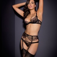 Laleh Suspender Black and Bronze