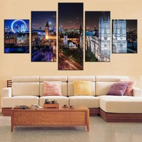 Canvas Wall Art: London England at Night on Canvas