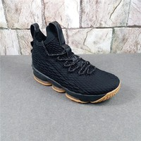 "Nike LeBron 15 ""Black Gum"" 897648-300 Basketball Shoe"