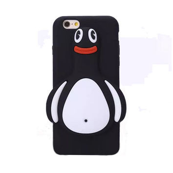 Luxury cartoon monroe sexy lips big eye smiling face penguin soft silicone case For iphone 5 5s/5c/6 6s/6plus 6splu