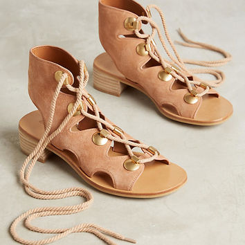 See By Chloe Edna Block Heeled Gladiator Sandals