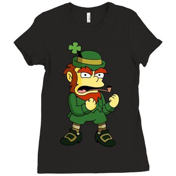 happy saint patrick day simpson 2 Ladies Fitted T-Shirt