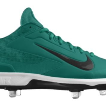 Nike Air Huarache Pro Low Metal iD Custom Men's Baseball Cleats - Green