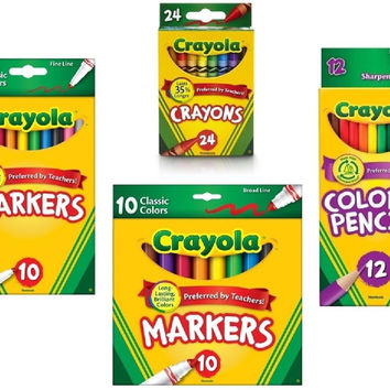 Crayola Crayons (24 Count) Crayola Colored Pencils in Assorted Colors (12 Cou...
