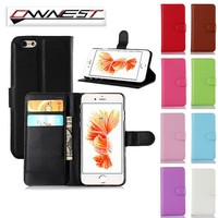 OWNEST Luxury Wallet Flip Cover stand Case For iPhone 7 7 PLUS 6 6S Plus 4S 5 5S case Cell Phone PU Case with Card Slot