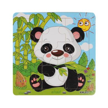 Cute Animals Wooden Jigsaw Puzzles Toys 9 PCS Or 16 PCS
