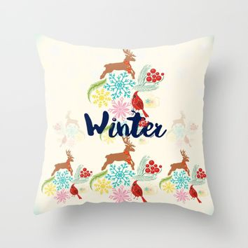 Winter Throw Pillow by Famenxt | Society6