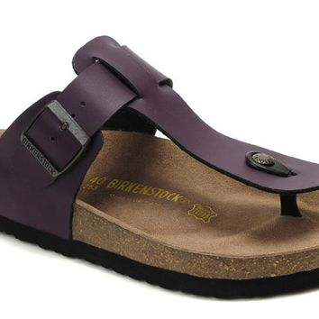 Birkenstock Medina Sandals Artificial Leather Purple - Ready Stock