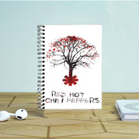 Tree Of Red Hot Chili Peppers Photo Notebook Auroid