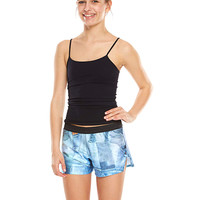 Girls Denim Patchwork Gym Shorts