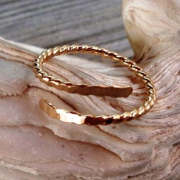 Hammered 14K Gold Filled Twisted Toe-Midi-Knuckle Ring Toe-Midi-Knuckle Ring | eBay