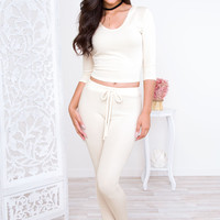 Do It Right Leggings - Ivory
