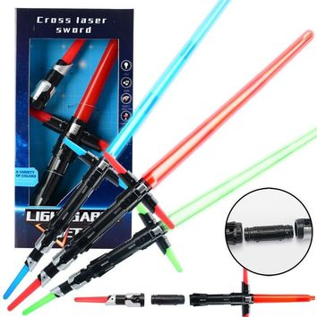 Star Wars Force Episode 1 2 3 4 5 3 Styles  Last Jedi Lightsaber PVC Collection Light Up Saber Model Anime Hobbies Action Toy Figures Toys For Children AT_72_6