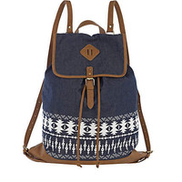 Blue Chambray Navajo Backpack