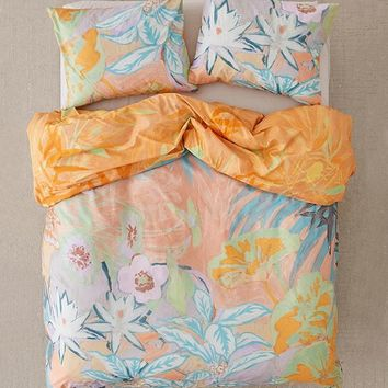 Clara Boho Jungle Border Duvet Cover | Urban Outfitters