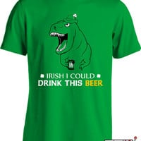 St. Patrick's Day T Shirt Irish I Could Drink This Beer T Shirt Funny Drinking Shirt  Mens Ladies Tee MD-341