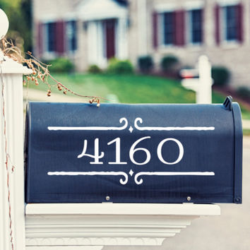 Street Number Mailbox Decal