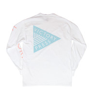 VP White Long Sleeve T Shirt – Victory Press New York