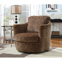Coaster Furniture 900195 Leopard Print Swivel Upholstered Chair
