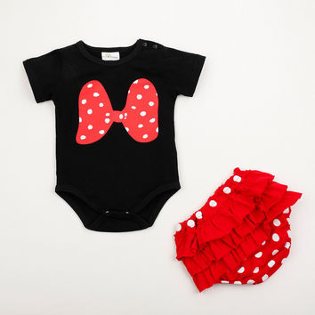 Baby Girl Clothing Cartoon Mickey Short Sleeve Summer Romper Suit Baby Girl Clothes