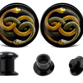 Auryn Neverending Story ear plugs ,create your own ear plugs,acrylic ear plugs,wedding plugs,plugs jewelry