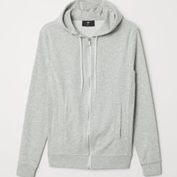 Slim Fit Hooded Jacket - Light gray melange - Men | H&M US