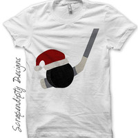 Iron on Hockey Shirt PDF - Christmas Iron on Transfer / Christmas Hockey Tshirt / Kids Boys Sports Clothes / Baby Christmas Outfit IT331-C